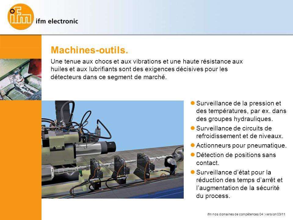 ifm nos domaines de compétences 04 : version 03/11 Surveillance de la pression et des températures, par ex.