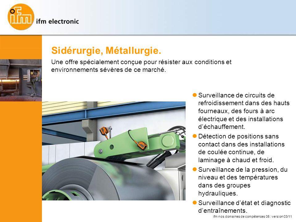 Surveillance de circuits de refroidissement dans des hauts fourneaux, des fours à arc électrique et des installations déchauffement.