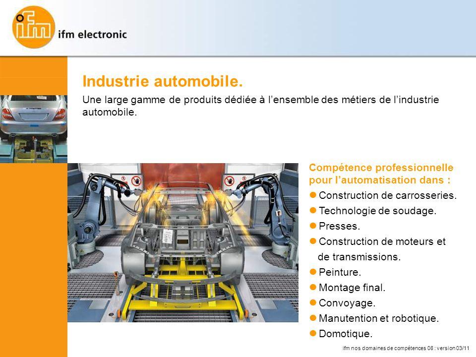 Compétence professionnelle pour lautomatisation dans : Construction de carrosseries.