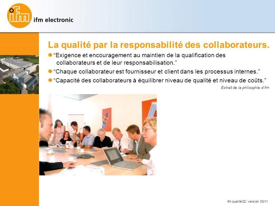 La qualité par la responsabilité des collaborateurs.