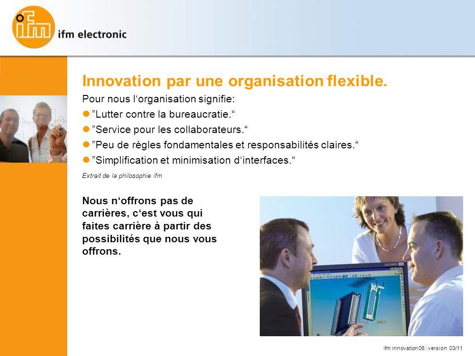 Innovation par une organisation flexible.