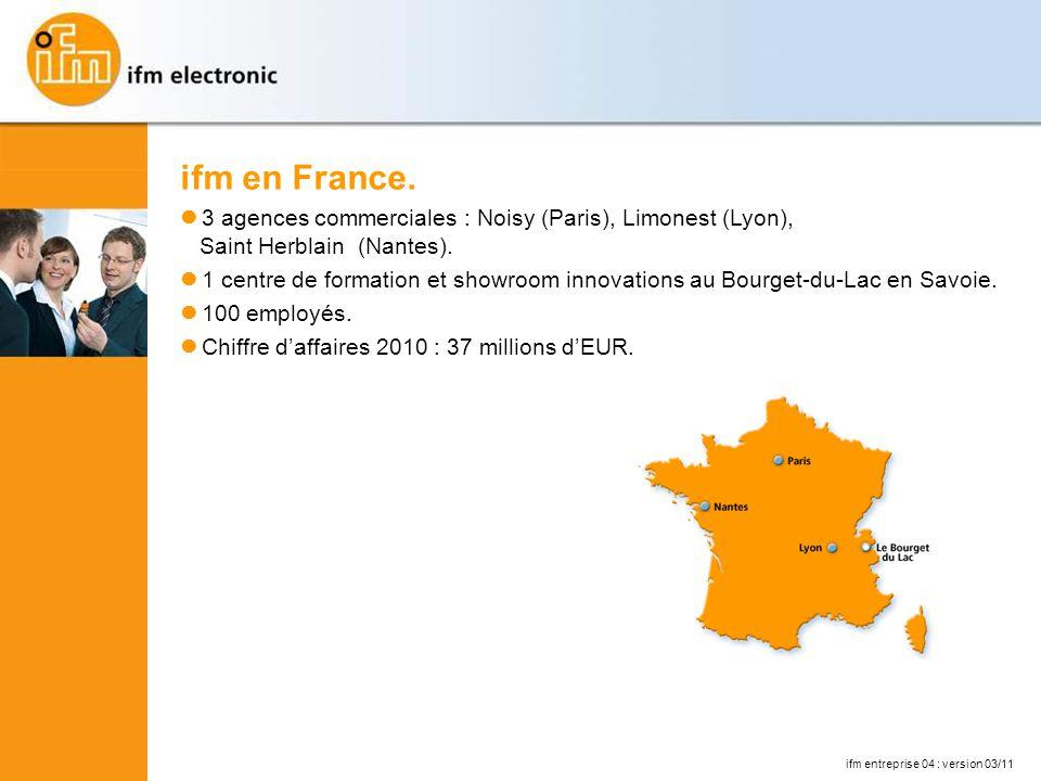 ifm entreprise 04 : version 03/11 ifm en France.