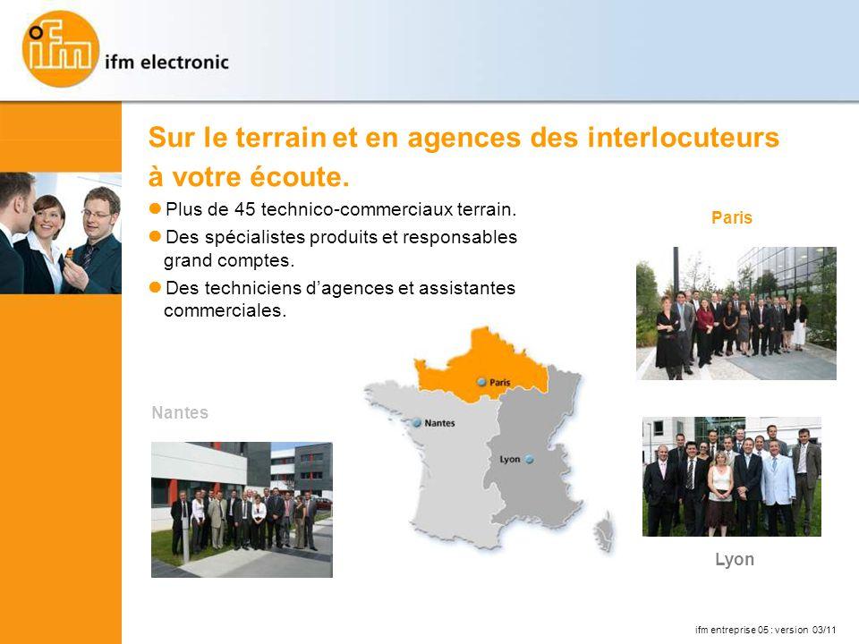 ifm entreprise 05 : version 03/11 Sur le terrain et en agences des interlocuteurs à votre écoute.