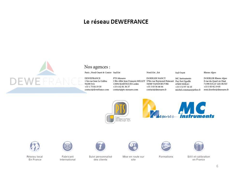 6 Le réseau DEWEFRANCE