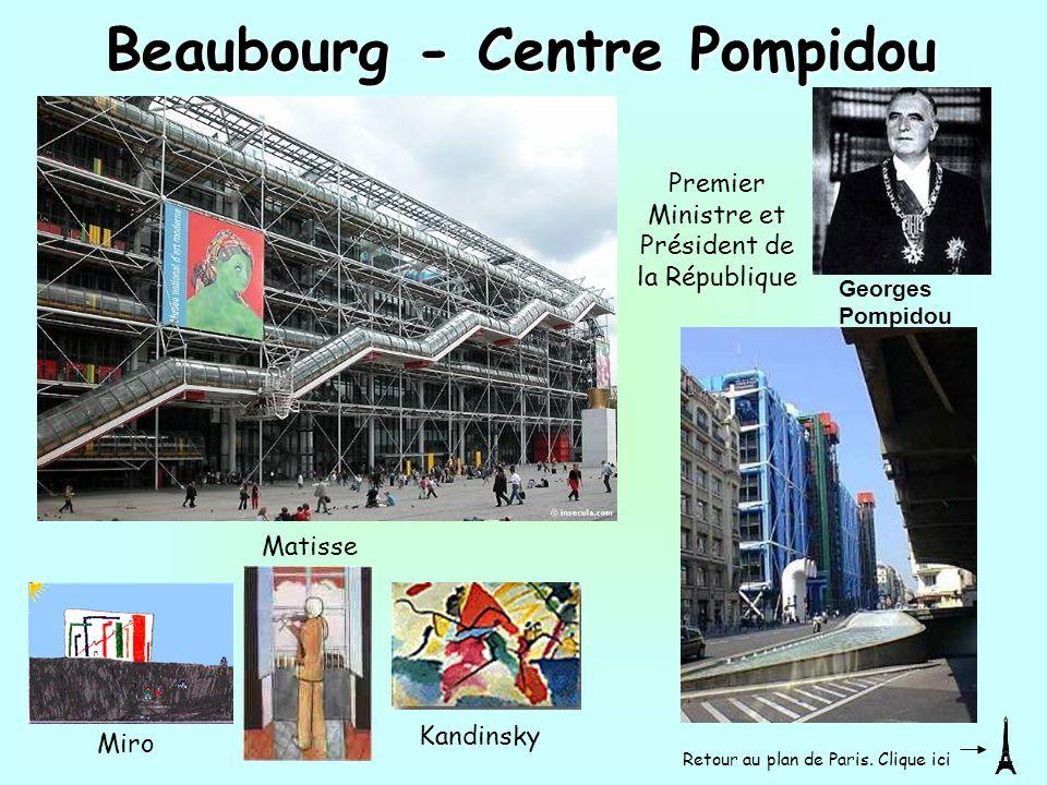 Matisse Miro Kandinsky Beaubourg - Centre Pompidou Premier Ministre et Président de la République Georges Pompidou