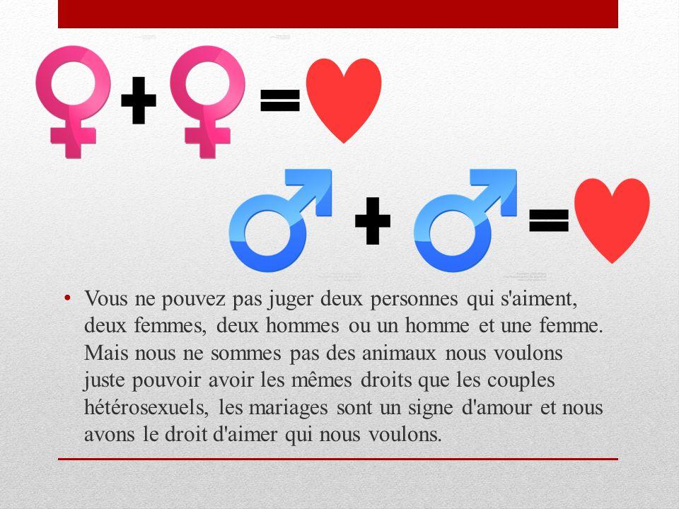 Mieux vaut un mariage gay qu'un mariage triste! La société change et se modernise, les idées et les opinions diffèrent à chaque génération. En revanch
