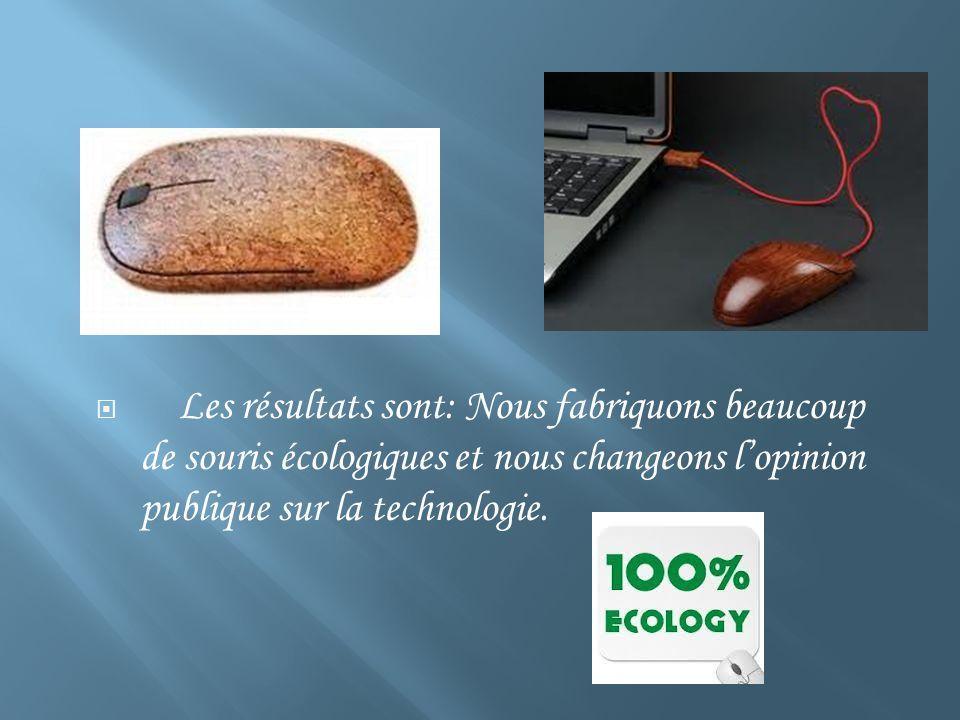 Les résultats sont: Nous fabriquons beaucoup de souris écologiques et nous changeons lopinion publique sur la technologie.