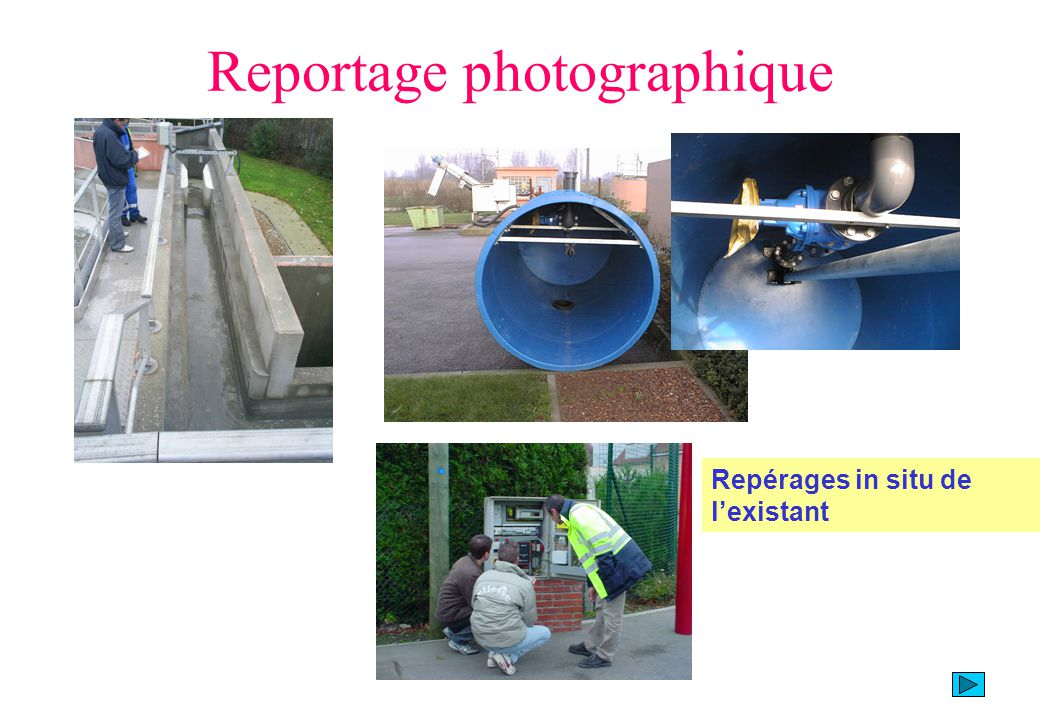 Reportage photographique Repérages in situ de lexistant