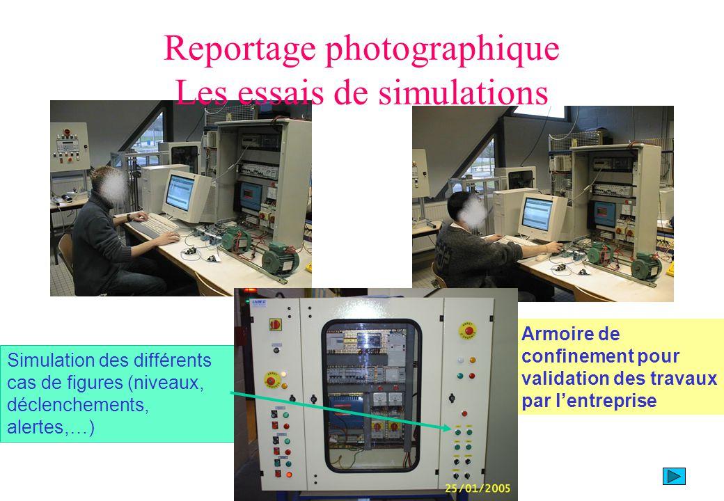 Reportage photographique Les essais de simulations Armoire de confinement pour validation des travaux par lentreprise Simulation des différents cas de