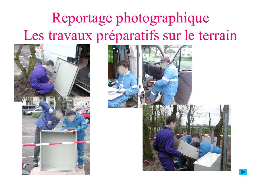 Reportage photographique Les travaux préparatifs sur le terrain