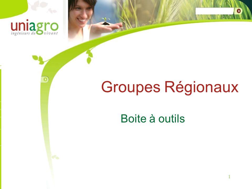 1 Groupes Régionaux Boite à outils