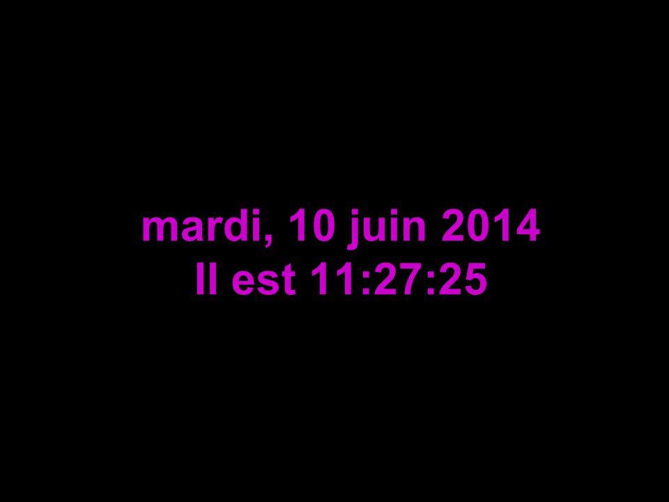 mardi, 10 juin 2014 Il est 11:28:57