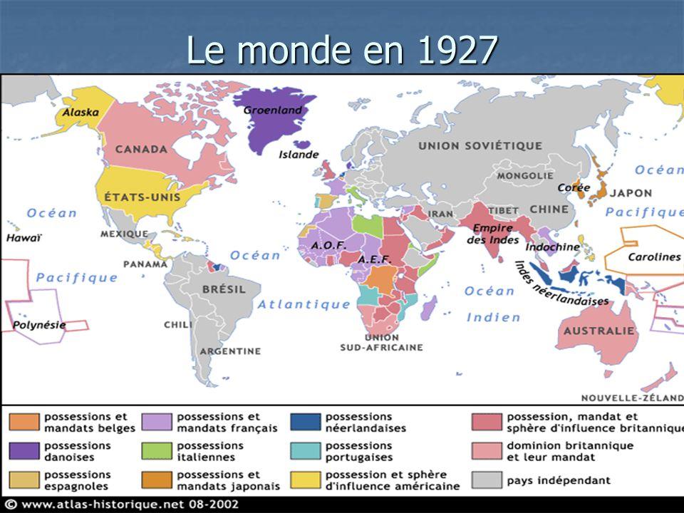 Le monde en 1927