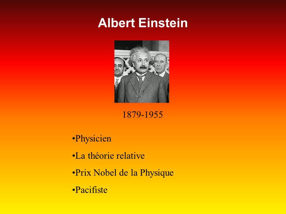 Albert Einstein 1879-1955 Physicien La théorie relative Prix Nobel de la Physique Pacifiste