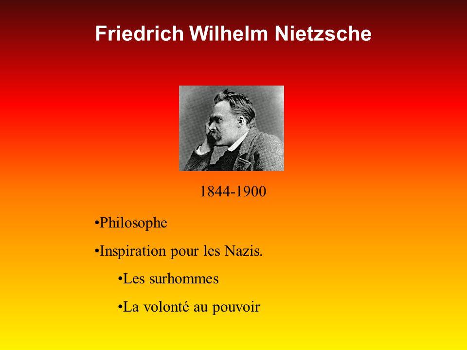 Friedrich Wilhelm Nietzsche 1844-1900 Philosophe Inspiration pour les Nazis.