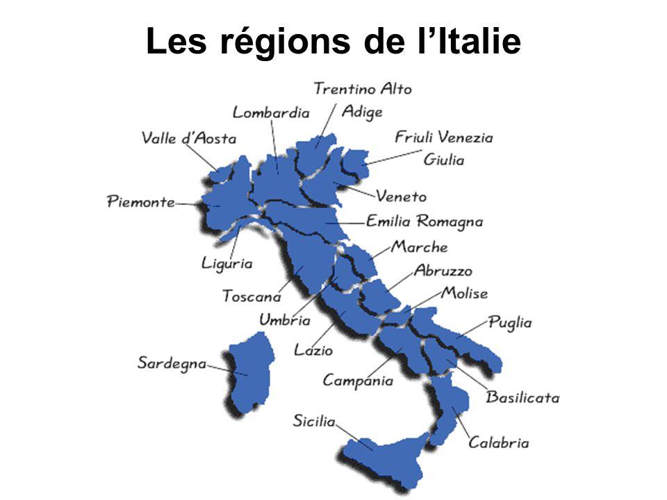 Les régions de lItalie