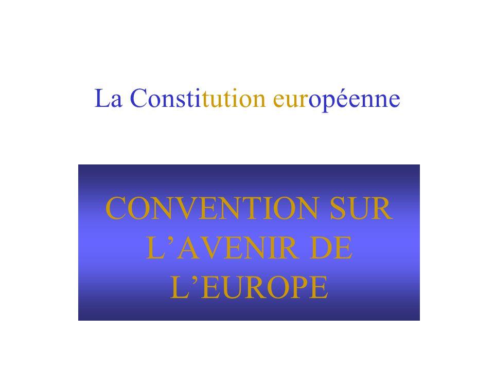 La Constitution européenne CONVENTION SUR LAVENIR DE LEUROPE
