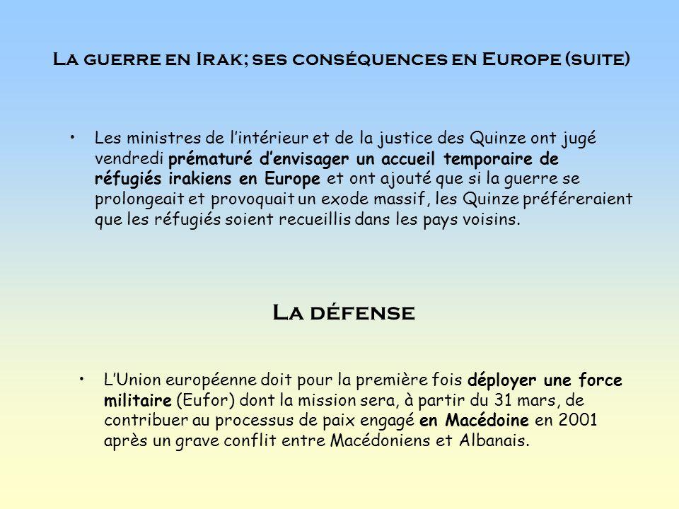 Sommet à Bruxelles Les chefs dÉtat et de gouvernement des Quinze ont admis au sommet européen à Bruxelles, le 20 mars, quil reste beaucoup à faire pour réaliser la stratégie lancée à Lisbonne en mars 2000 visant à faire de lUnion européenne «léconomie la plus compétitive du monde» à lhorizon 2010.