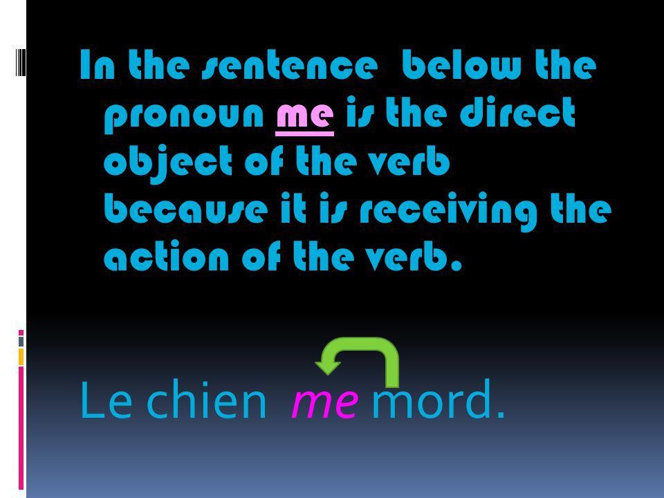 In the sentence below t (te) is the direct object of the verb invite because it receives the action of the verb.