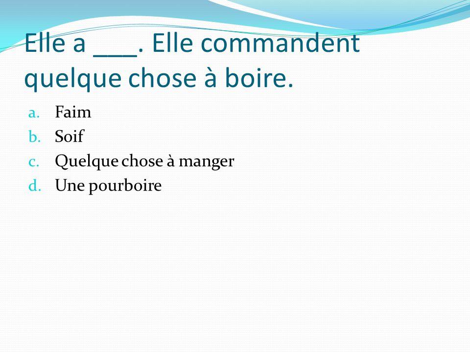 La ____ donne la carte aux clientes. a. Pourboire b. Serveuse c. Serveur d. addition