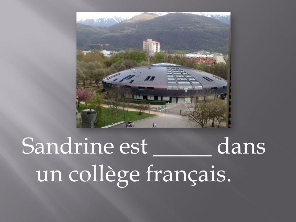 Sandrine est _____ dans un collège français.