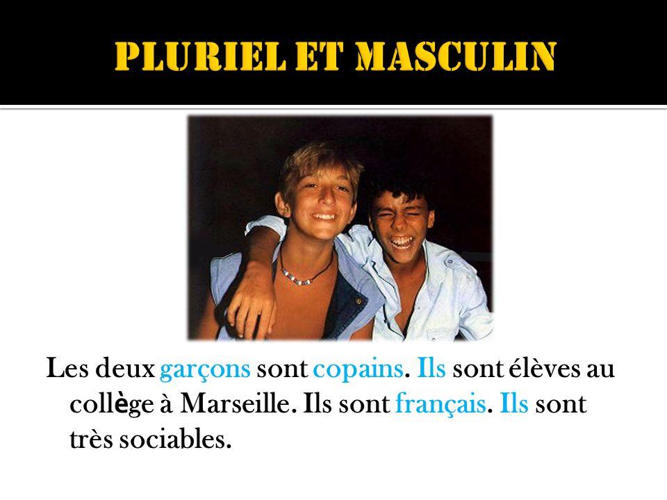 Les deux garçons sont copains. Ils sont élèves au coll è ge à Marseille.