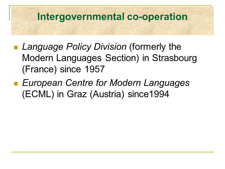 ECML programme 2004 - 2007 Languages for social cohesion: language education in a multilingual and multicultural Europe Having based its work on the underlying values of the Council of Europe and its pioneering work in language education, the ECML is ideally equipped to act as a catalyst for reform in the teaching and learning of languages.