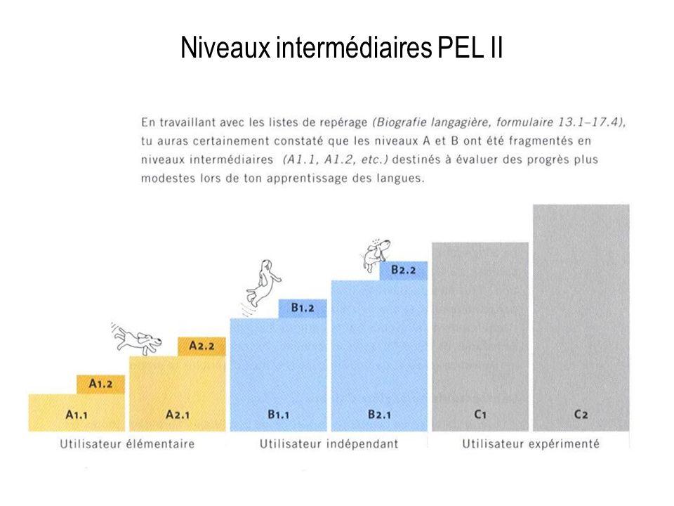 Niveaux intermédiaires PEL II