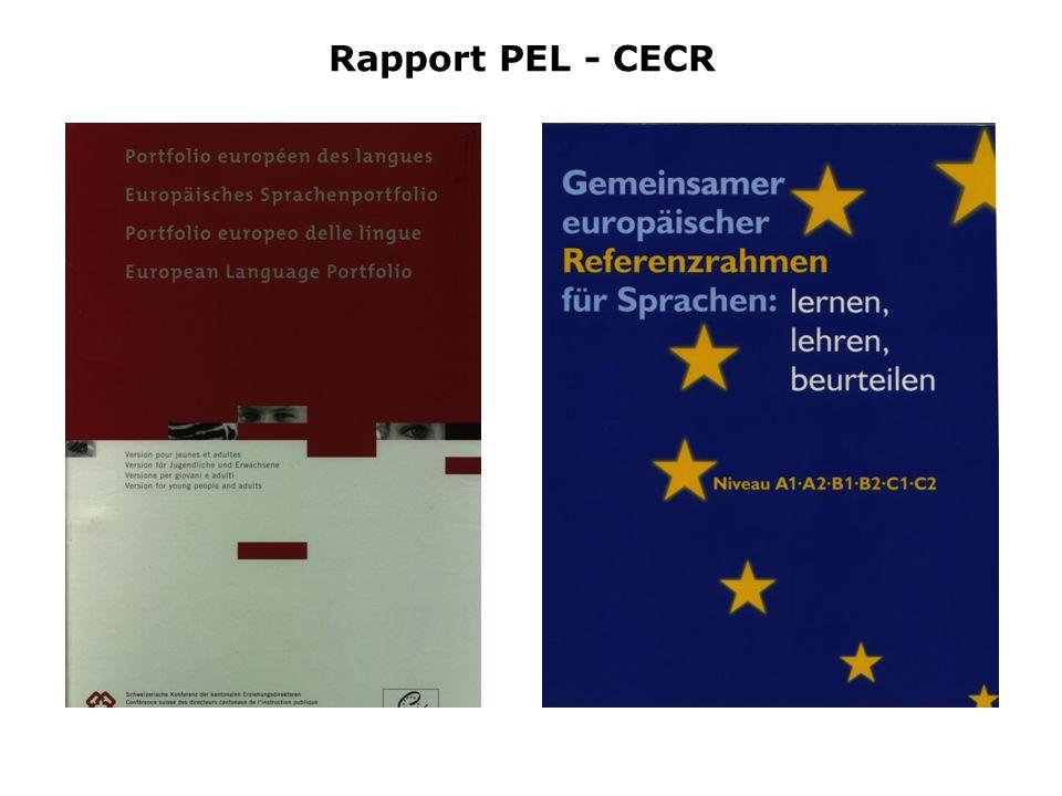 Rapport PEL - CECR