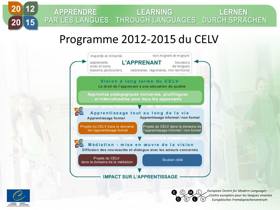 Programme 2012-2015 du CELV