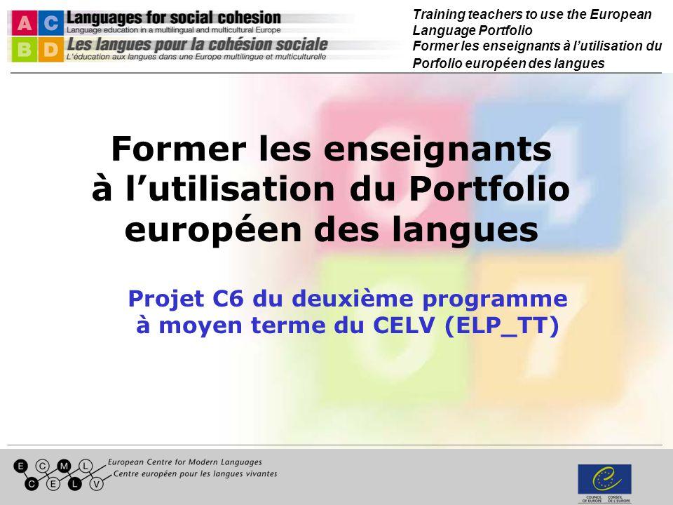 Training teachers to use the European Language Portfolio Former les enseignants à lutilisation du Porfolio européen des langues Relier lévaluation au PEL / CECR Hans-Peter Hodel