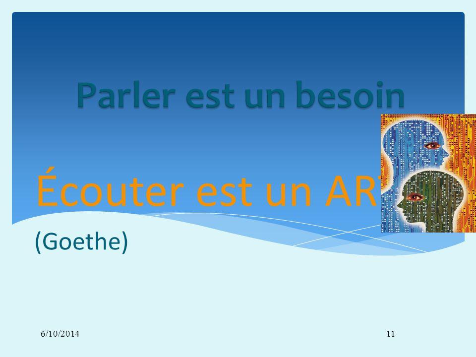 6/10/201411 Écouter est un ART (Goethe)