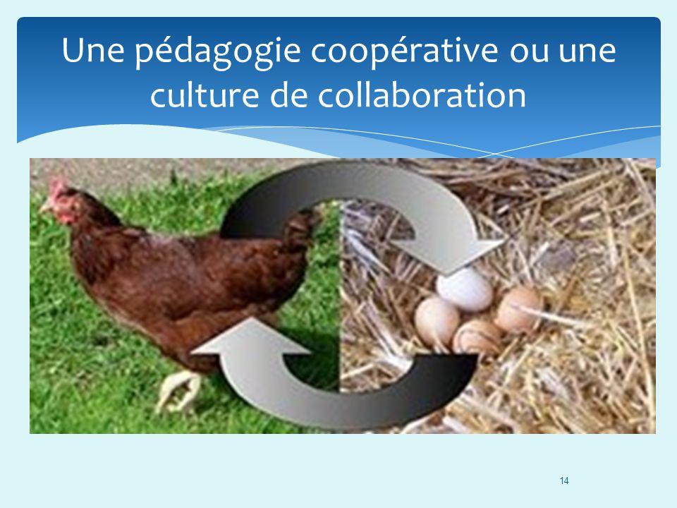 14 Une pédagogie coopérative ou une culture de collaboration