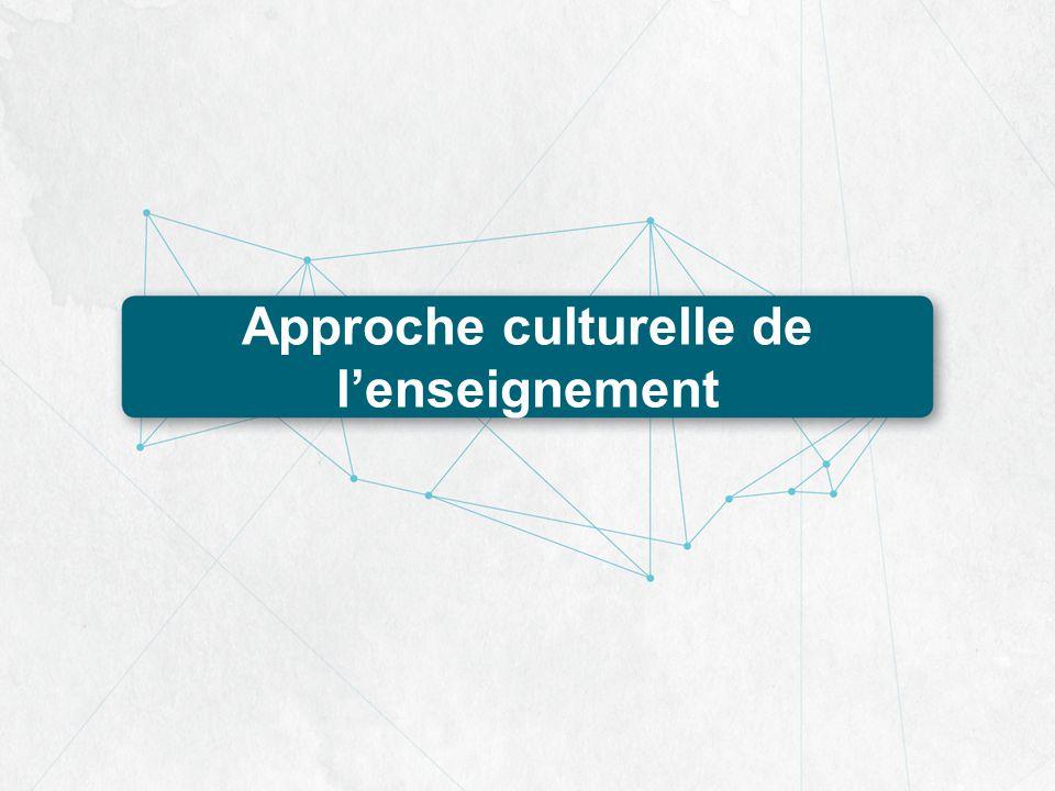 Approche culturelle de lenseignement