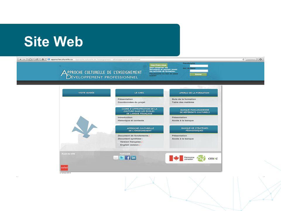 Site Web www.approcheculturelle.ca
