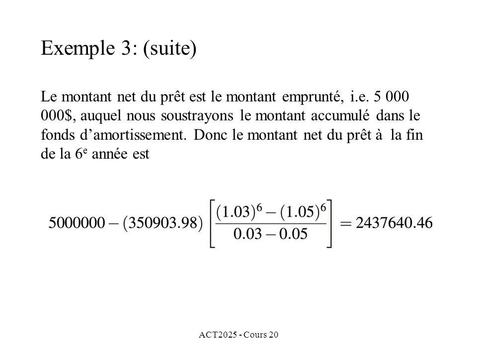 ACT2025 - Cours 20 Le montant net du prêt est le montant emprunté, i.e.