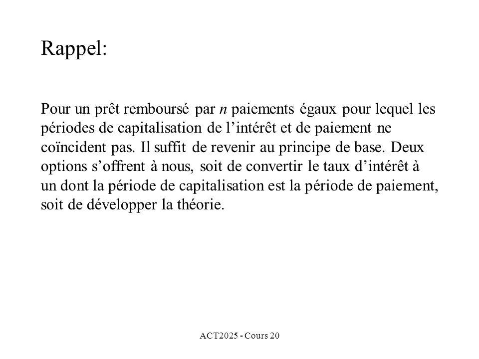 ACT2025 - Cours 20 CHAPITRE VII Obligations
