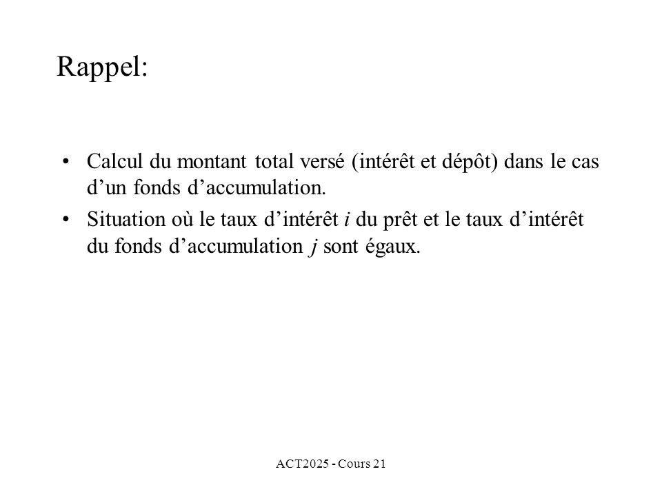 ACT2025 - Cours 21 Avec la formule basique nous obtenons Dans ce cas, cette obligation est achetée à escompte.