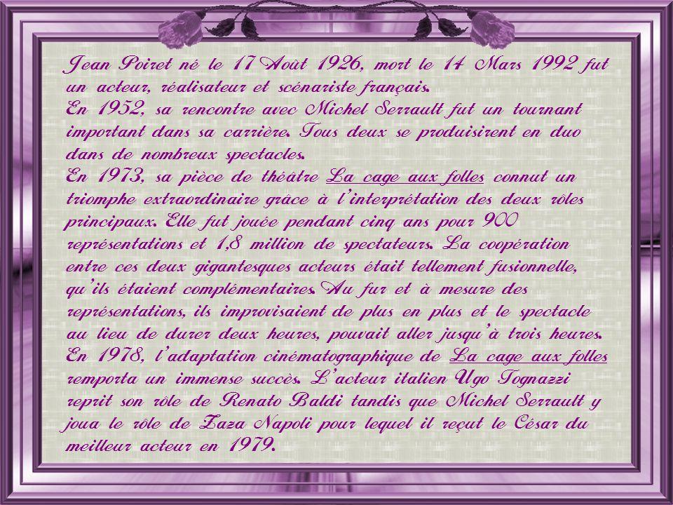 Philippe Noiret, né le 1 er Octobre 1930, mort le 23 Novembre 2006 fut un comédien de théâtre et un acteur français.