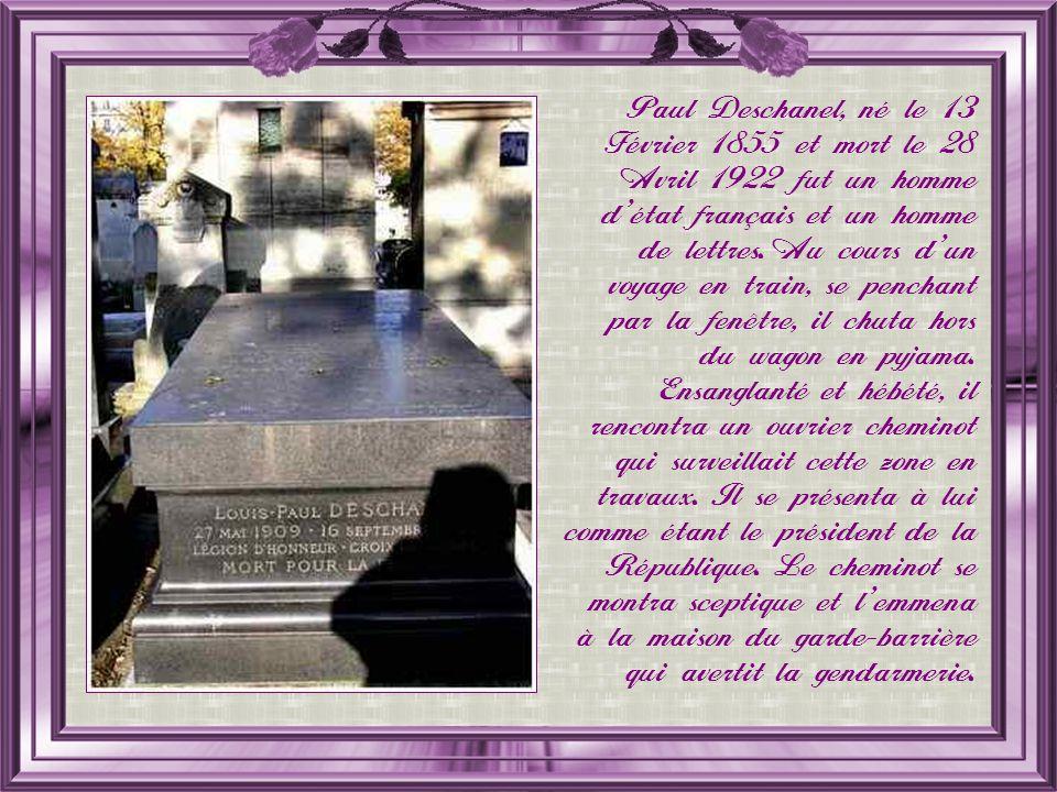 Paul Deschanel, né le 13 Février 1855 et mort le 28 Avril 1922 fut un homme détat français et un homme de lettres.