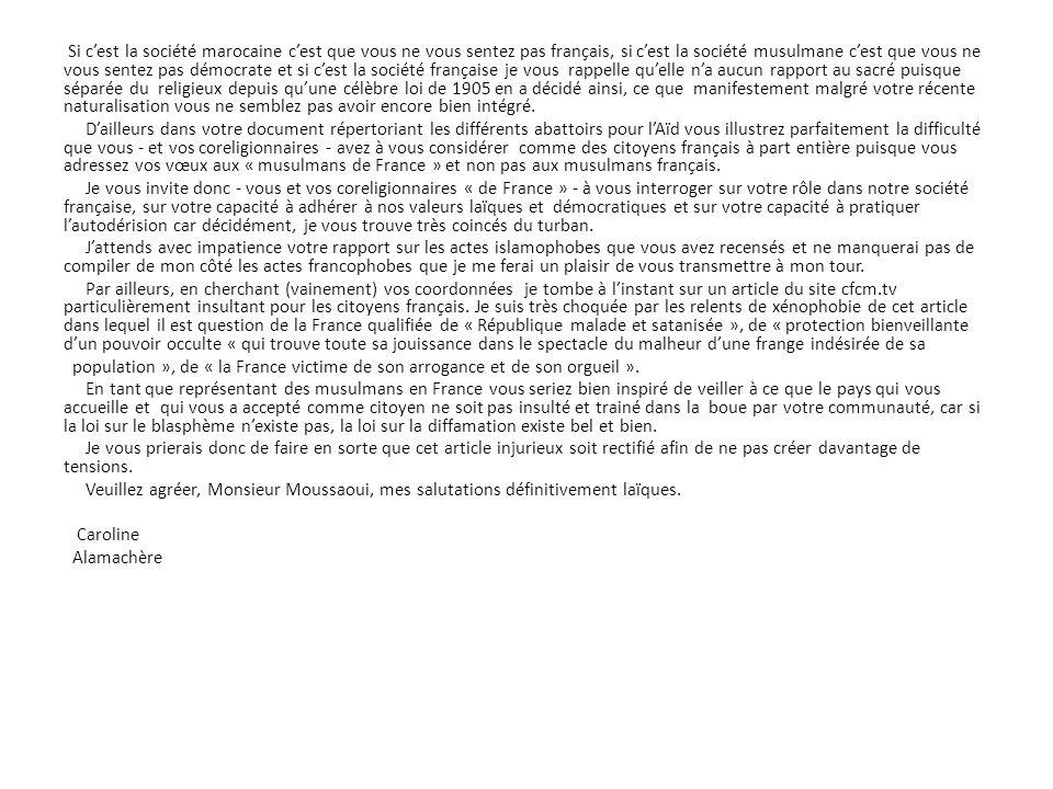 Major Alain PINON Chef de l Unité des Moyens Aériens Lettre ouverte en réponse au Président du MRAP