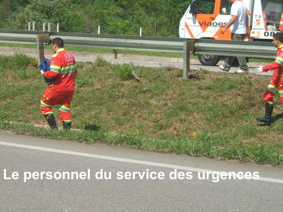 Le personnel du service des urgences