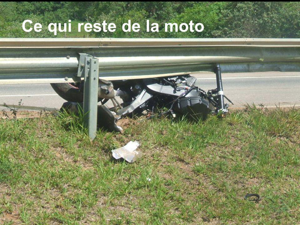 Ce qui reste de la moto