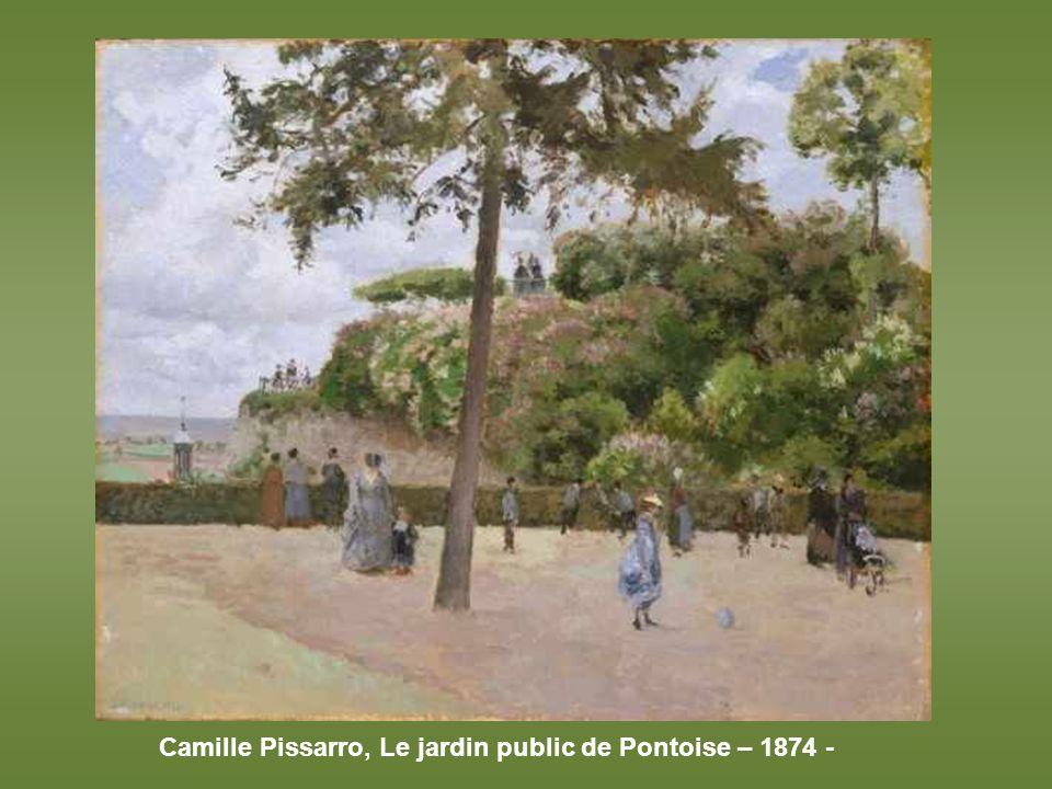 John Singer Sargent, Coucher de soleil dans les jardins du Luxembourg – 1879 -