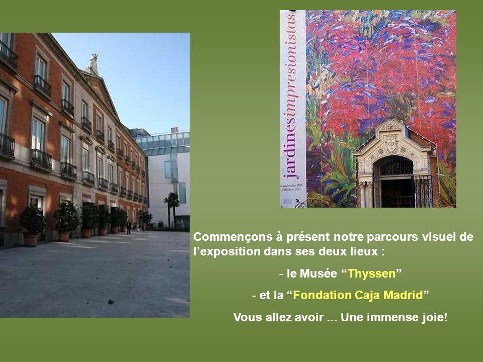 Le Musée Thyssen et la Fondation Caja Madrid tournent à présent leur regard vers limpressionisme.