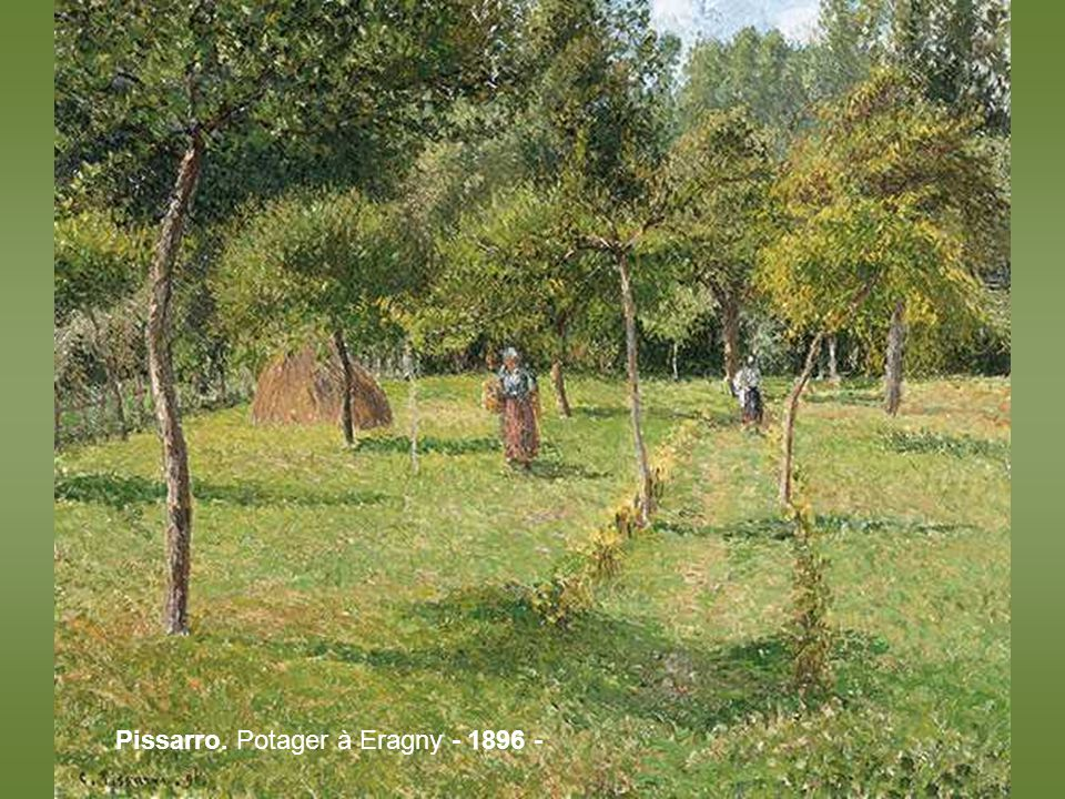 Pissarro. Potagers à lHermitage. – 1874 -