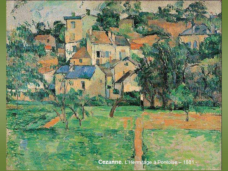 Alfred Sisley. Printemps aux environs de Paris pommiers en fleurs – 1879 -