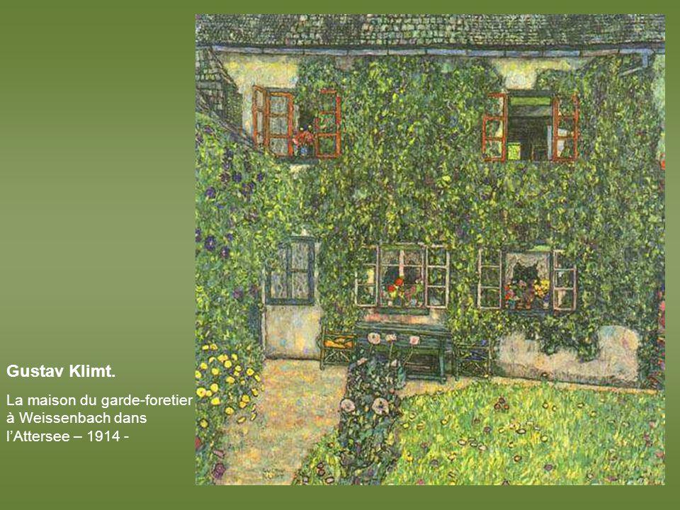 Gustav Klimt. Paysage de jardin italien – 1913 -