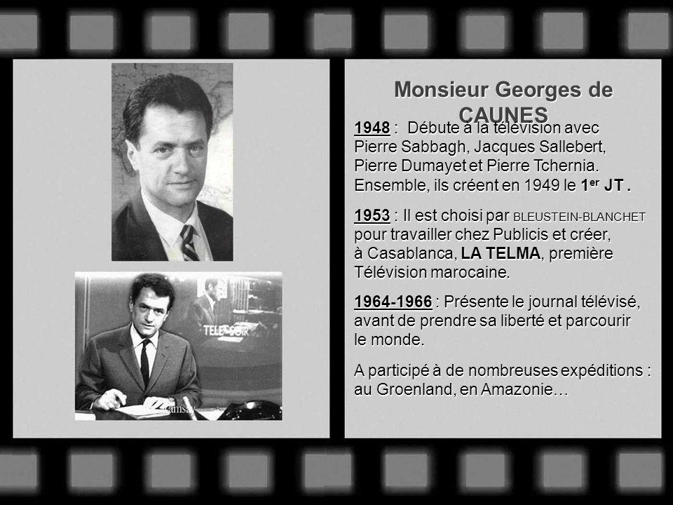 Monsieur Pierre SABBAGH Innovateur de génie, la pipe toujours pendue au coin des lèvres ! Entre à la télévision en mai 1945. Dès 1949, il filme le Tou