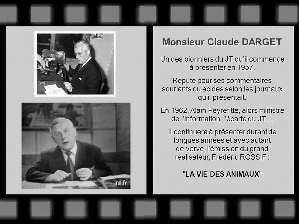Monsieur Jacques SALLEBERT Il assure le 1 er reportage sportif en direct diffusé à la télévision : larrivée du Tour de France 1948. 1949 : Fait partie
